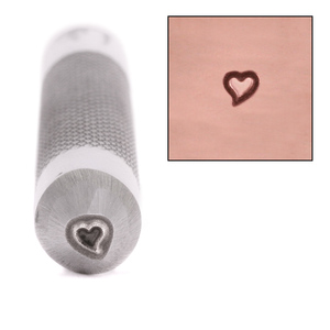 Metal Stamping Tools Advantage Series Whimsical Heart Metal Design Stamp, 2.8mm