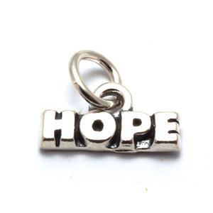 Charms & Solderable Accents Sterling Silver HOPE Charm