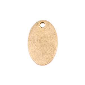 "Metal Stamping Blanks Gold Plated Pewter Oval with Hole, 25mm (.98"") x 16.5mm (.65""), 15g"