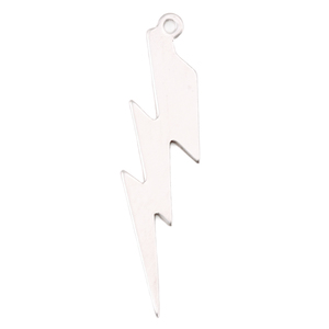 Charms & Solderable Accents Sterling Silver Lightning Bolt Charm