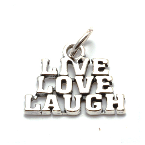 Charms & Solderable Accents Sterling Silver Live, Love, Laugh Charm