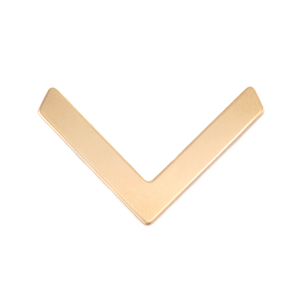 Metal Stamping Blanks Brass Large Chevron 29.5mm x 18.5mm, 24g