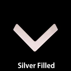 Metal Stamping Blanks Silver Filled Medium Chevron 24.5mm x 16mm, 24g