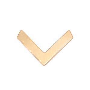 Metal Stamping Blanks Brass Medium Chevron 24.5mm x 16mm, 24g