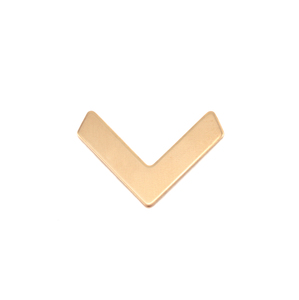 Metal Stamping Blanks Brass Small Chevron 19.5mm x14mm, 24g