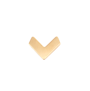 Metal Stamping Blanks Brass Teeny Tiny Chevron 14mm x 11mm, 24g