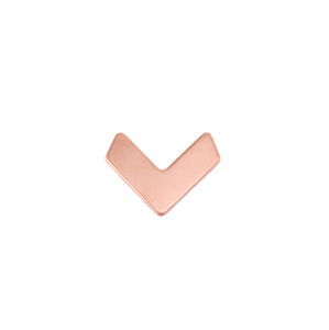 Metal Stamping Blanks Copper Teeny Tiny Chevron 14mm x 11mm, 24g