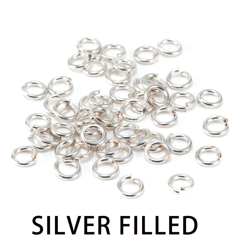Jump Rings Silver Filled 4.5mm I.D. 21 Gauge Jump Rings, pack of 50