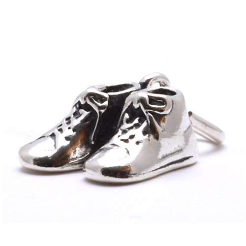 Charms & Solderable Accents Sterling Silver Baby Shoes Charm