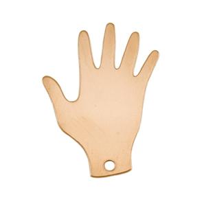 Metal Stamping Blanks Brass Hand Blank, 24g