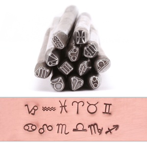 Metal Stamping Tools Zodiac Metal Stamp Set (2mm - 5.5mm)