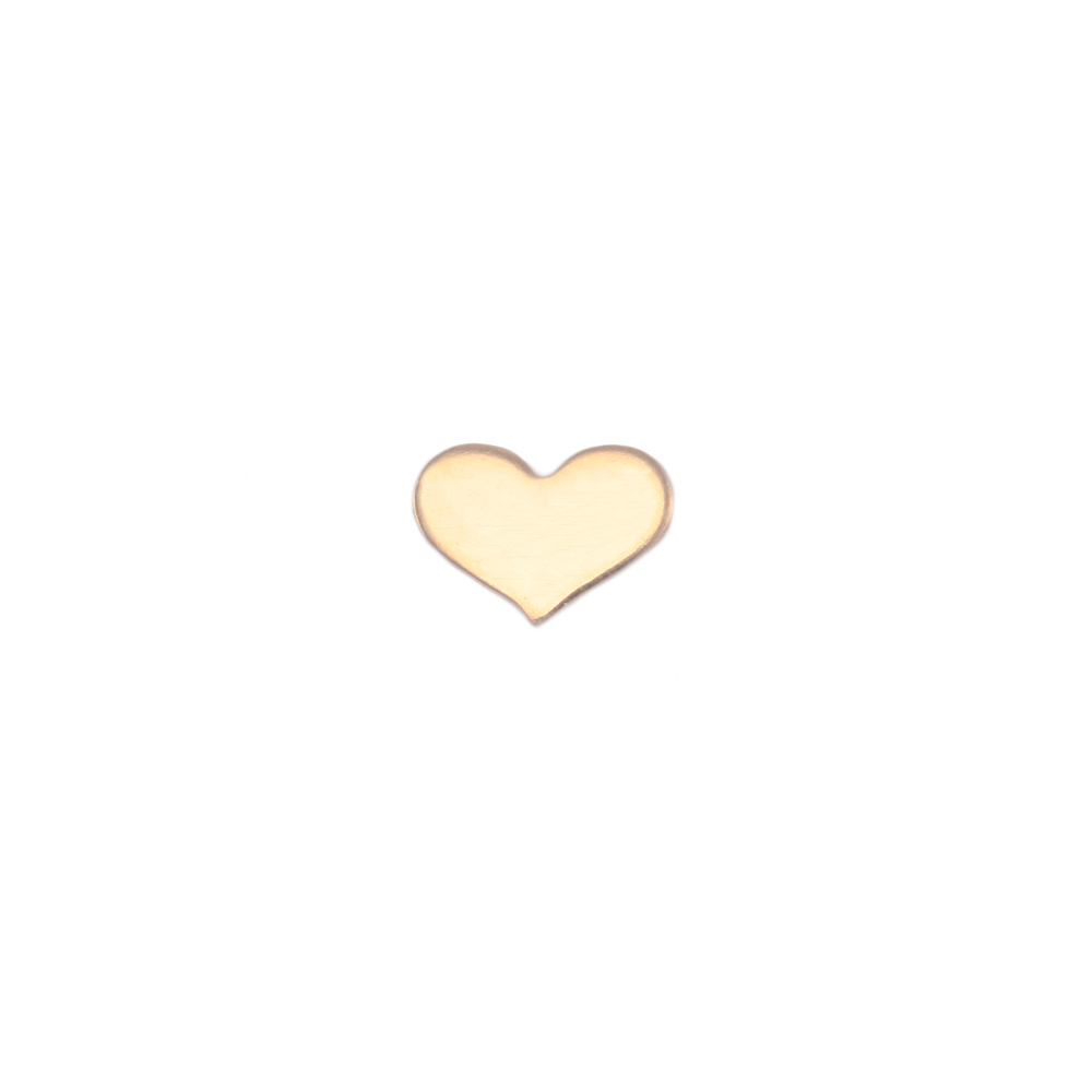 Charms & Solderable Accents Gold Filled Classic Heart Solderable Accent, 24g - Pack of 5