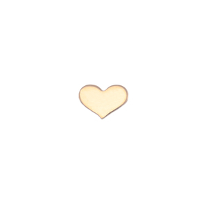 "Charms & Solderable Accents Gold Filled Classic Heart Solderable Accent, 7mm (.28"") x 5mm (.20""), 24g - Pack of 5"