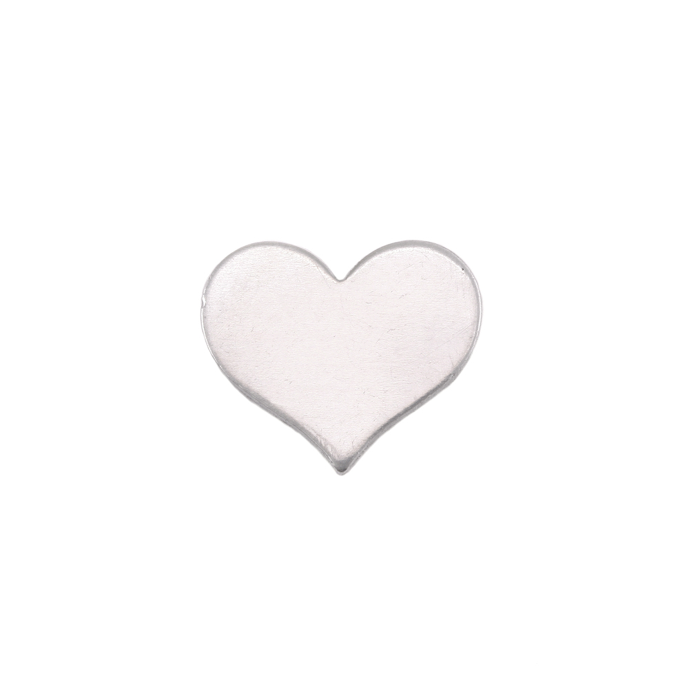 "Metal Stamping Blanks Aluminum Classic Heart, 13mm (.51"") x 11mm (.43""), 18g, Pack of 5"