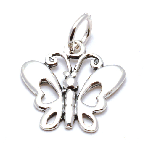 Charms & Solderable Accents Sterling Silver Butterfly Charm
