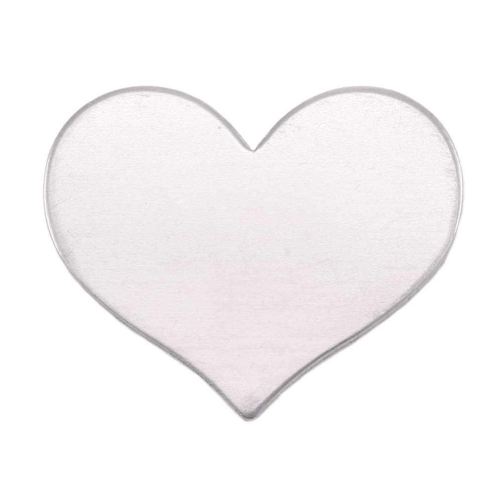 "Metal Stamping Blanks Aluminum Classic Heart, 26.5mm (1.04"") x 21.5mm (.84""), 18g"