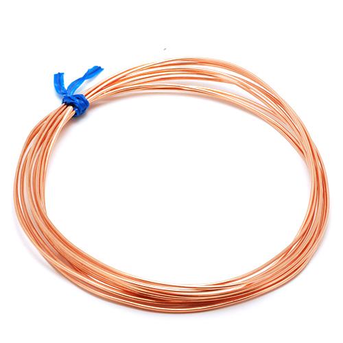 Wire & Sheet Metal 20g Copper, Half Round, Half Hard, 5 ft