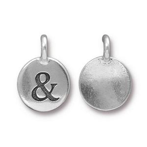 Charms & Solderable Accents Silver Plated & / Ampersand Charm