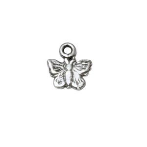 Charms & Solderable Accents Sterling Silver Tiny Butterfly Charm