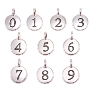 Charms & Solderable Accents Silver Plated Number 8 Charm