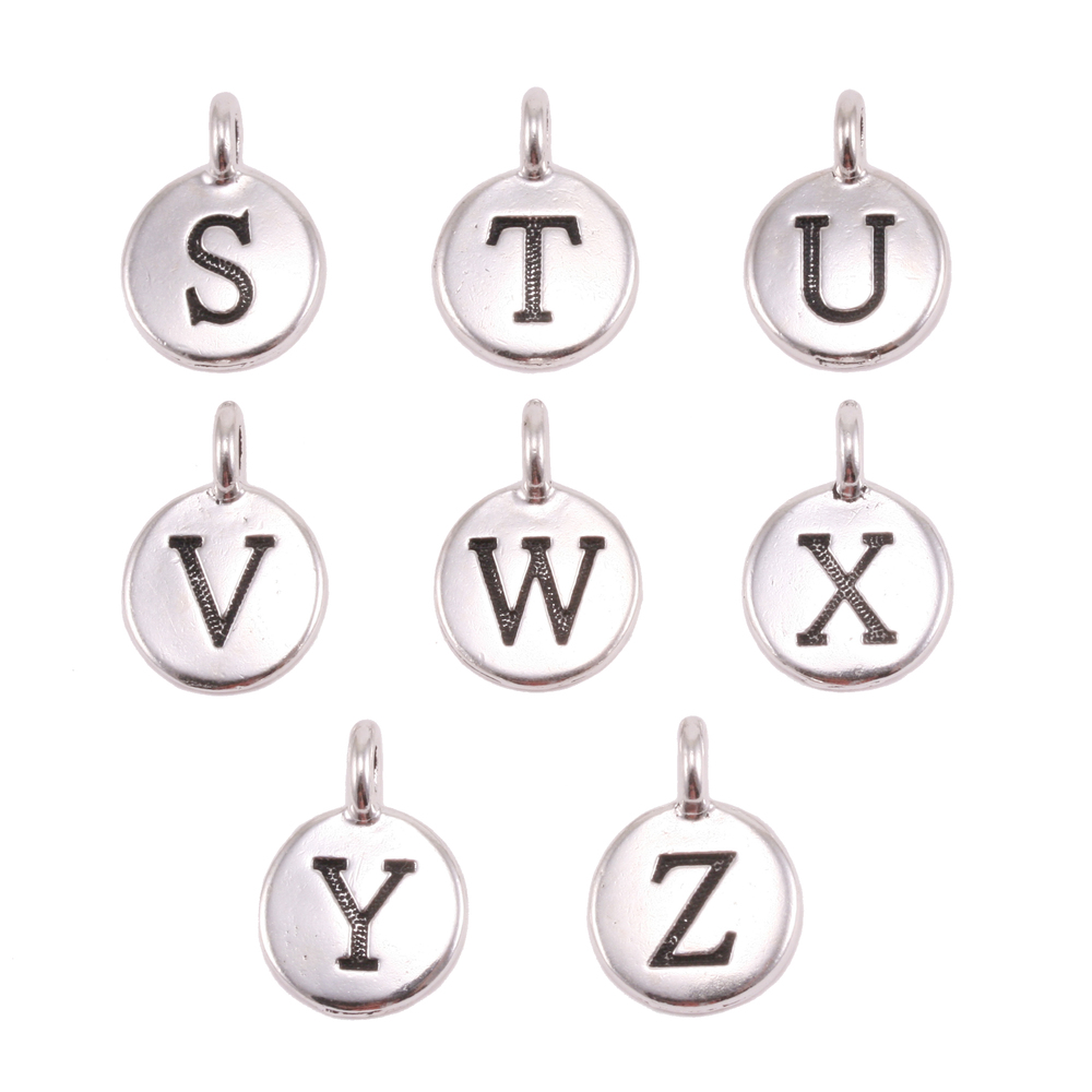 Charms & Solderable Accents Silver Plated Letter W Charm