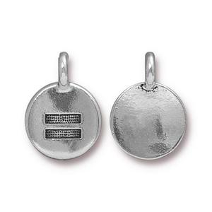 Charms & Solderable Accents Silver Plated Equality = Charm