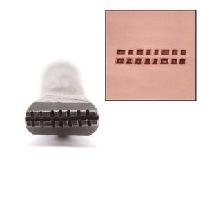 Metal Stamping Tools 2 Rows of Square Dots Metal Design Stamp