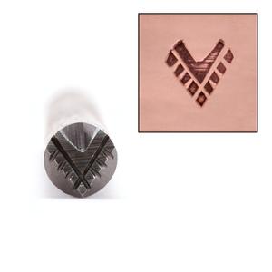 Metal Stamping Tools Chevron with Fringe Design Stamp