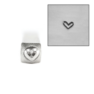 Metal Stamping Tools ImpressArt Whimsy Heart Metal Design Stamp 3mm