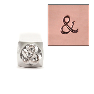 Metal Stamping Tools Fancy Ampersand Design Stamp 6mm by ImpressArt