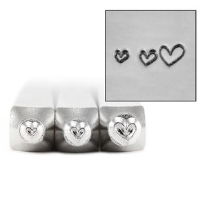 Metal Stamping Tools ImpressArt Heart Pack, 3 Pack Metal Design Stamps