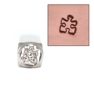 Metal Stamping Tools ImpressArt Puzzle Piece Metal Design Stamp 6mm