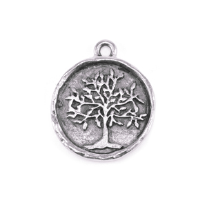 Charms & Solderable Accents Silver Plated Pewter Tree of Life Charm