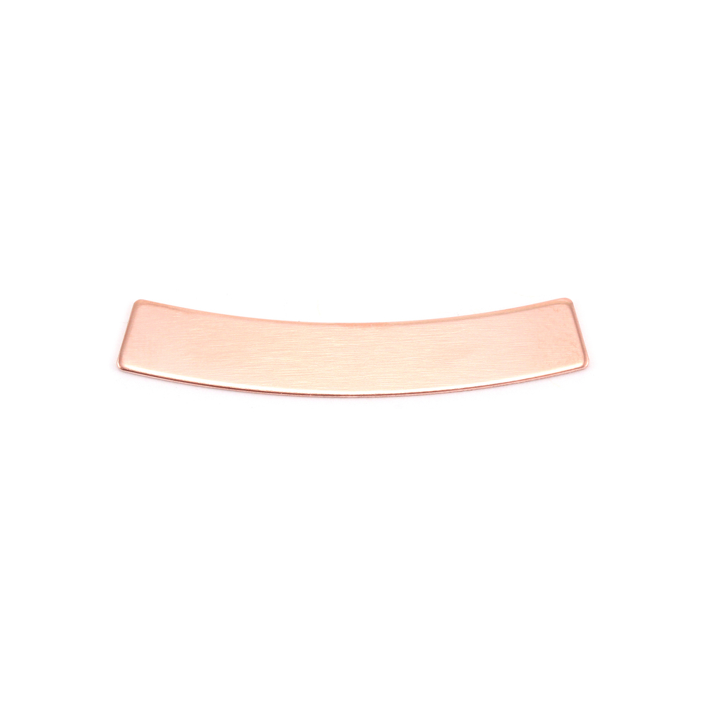 Metal Stamping Blanks Copper Curved Rectangle Bar 5mm x 30mm, 24g