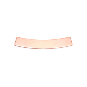 "Metal Stamping Blanks  Copper Curved Rectangle, 30mm (1.18"") x 5mm (.20""), 24g"