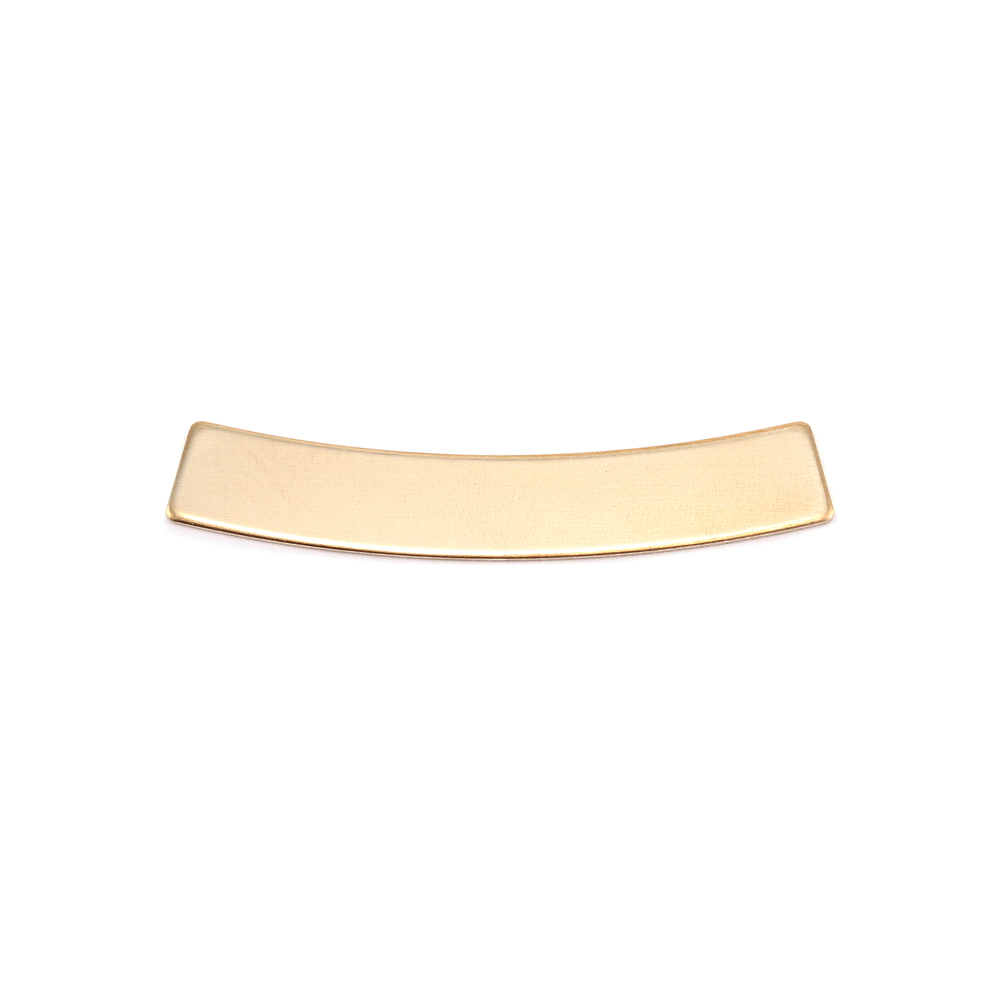 "Metal Stamping Blanks  Brass Curved Rectangle Bar, 30mm (1.18"") x 5mm (.20""), 24g"