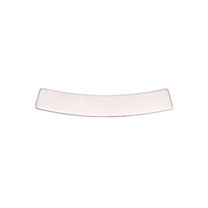 Metal Stamping Blanks Nickel Silver Curved Rectangle Bar 5mm x 30mm, 24g