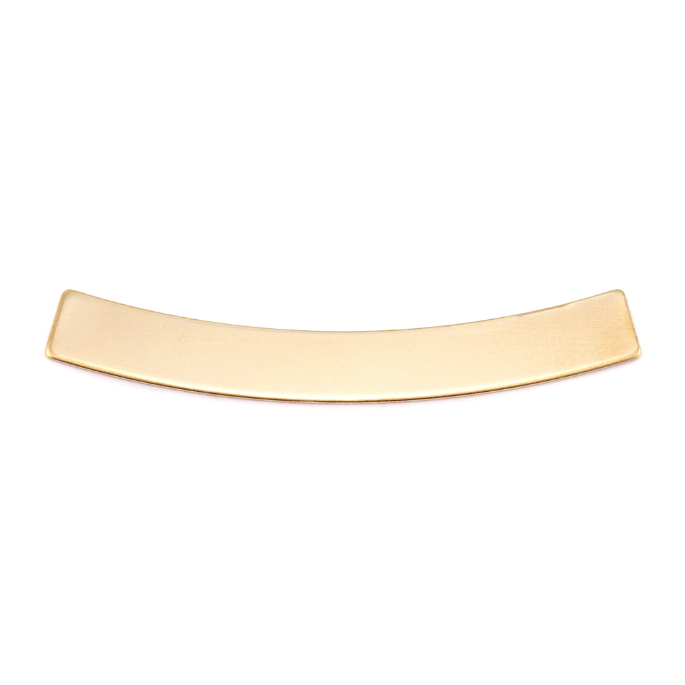"Metal Stamping Blanks Brass Curved Rectangle, 40mm (1.57"") x 5mm (.20""), 24g"