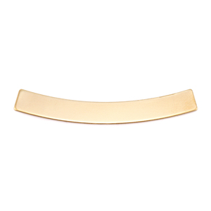 "Metal Stamping Blanks Brass Curved Rectangle Bar, 40mm (1.57"") x 5mm (.20""), 24g"