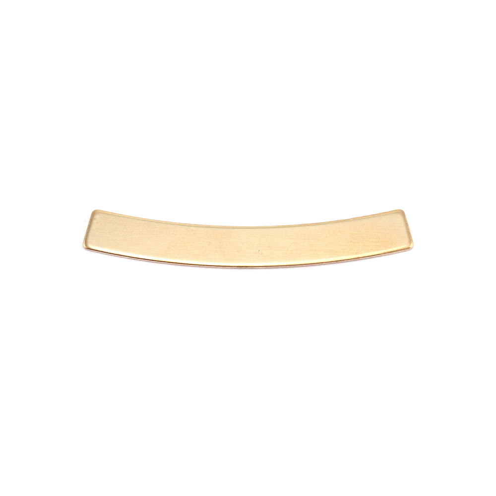 """Metal Stamping Blanks Brass Curved Rectangle Bar, 30mm (1.18"""") x 4mm (.16""""), 24g"""