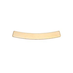 Metal Stamping Blanks Brass Curved Rectangle Bar  4mm x 30mm, 24g