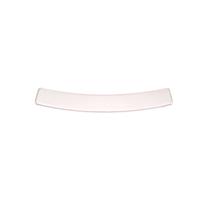 """Metal Stamping Blanks Nickel Silver Curved Rectangle Bar, 30mm (1.18"""") x 4mm (.16""""), 24g"""