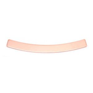 "Metal Stamping Blanks Copper Curved Rectangle Bar, 40mm (1.57"") x 4mm (.16""), 24g"