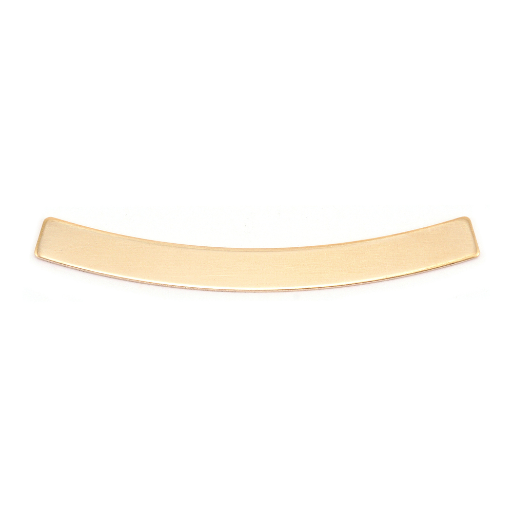 """Metal Stamping Blanks Brass Curved Rectangle Bar, 40mm (1.57"""") x 4mm (.16""""), 24g"""