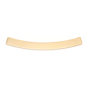 "Metal Stamping Blanks Brass Curved Rectangle Bar, 40mm (1.57"") x 4mm (.16""), 24g"