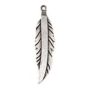 Metal Stamping Blanks Pewter Feather, 16g