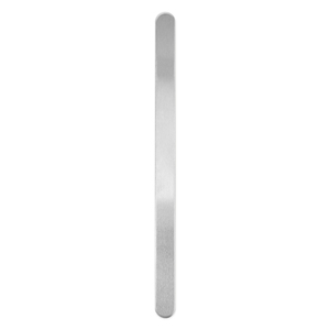 "Metal Stamping Blanks Aluminum Bracelet Blank, 152mm (6"") x 9.5mm (.38""), 14g, Pack of 4"