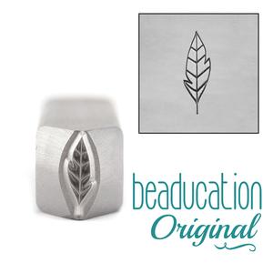 Metal Stamping Tools Large Leaf / Feather Metal Design Stamp 11mm - Beaducation Original