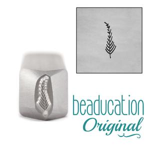 Metal Stamping Tools Medium Fern / Feather Metal Design Stamp 9mm - Beaducation Original
