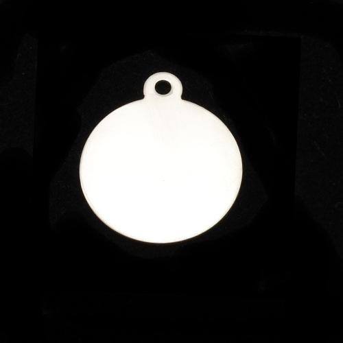 """Metal Stamping Blanks Sterling Silver Circle with Top Loop, 19mm (.75""""), 24g"""